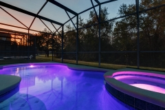 Pool and spa at night (Purple)